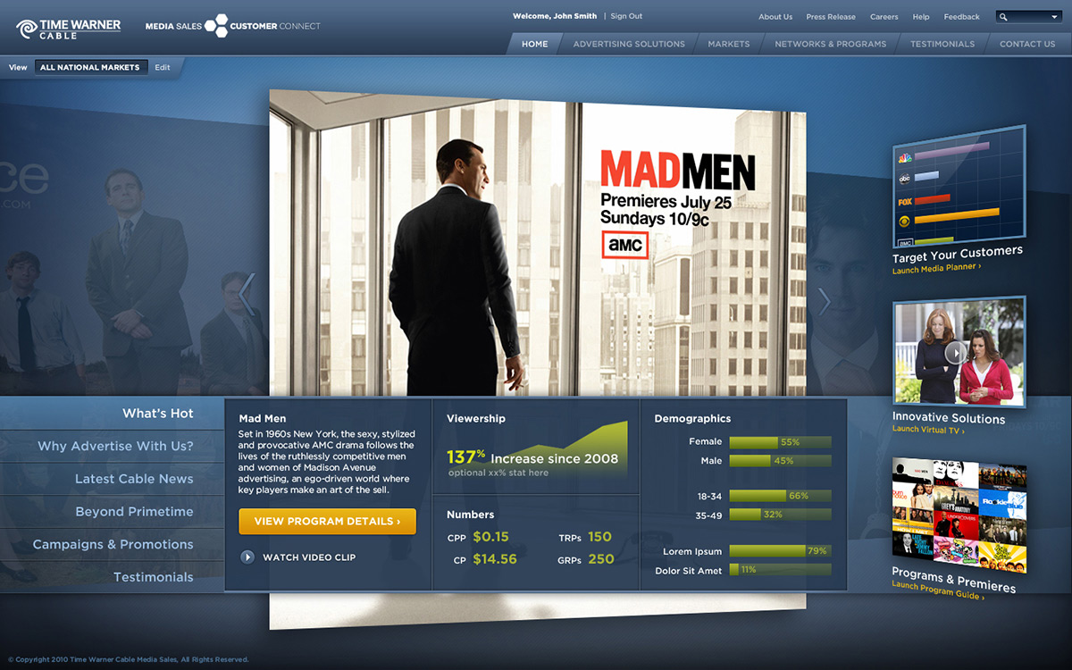 Victor Hwang Time Warner Cable Customer Connect Dashboard